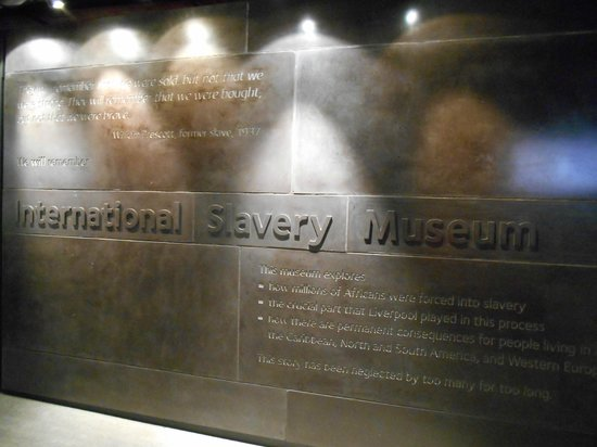 International Slavery Museum: Sign at the entrance of the museum