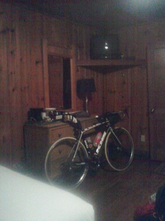 Linville Falls Lodge & Cottages: The trusty steed enjoyed a night in a safe room as well