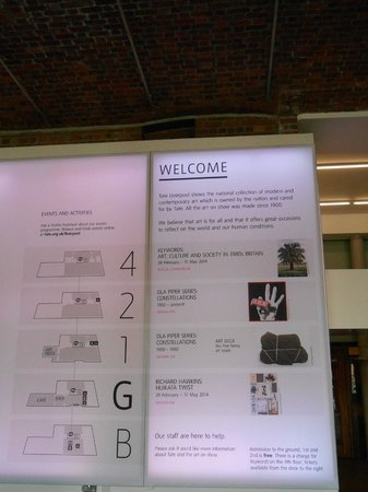 Tate Liverpool : Layout of the Museum