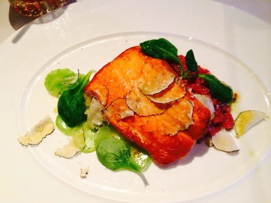 Boulevard : Salmon and Risotto  main dish