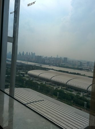 The Westin Pazhou: View of Pearl River from window