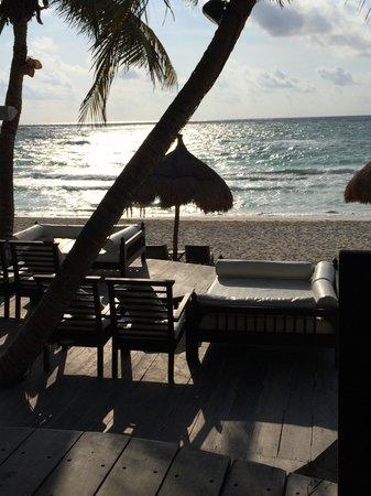Morning view from La Zebra restaurant