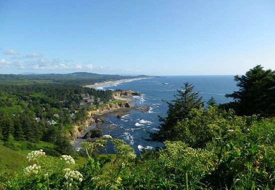 Otter Crest Loop: looking south from Cape Foulweather