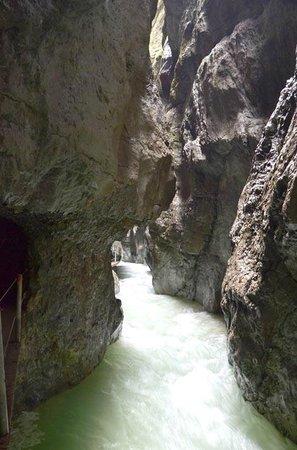 Partnachklamm: Volumne and speed of rushing water is amazing