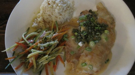 Alchemy Market and Cafe: delicious Petralie sole dinner