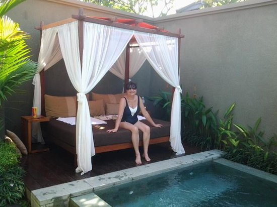 Seminyak Icon: Chilling out by the pool.