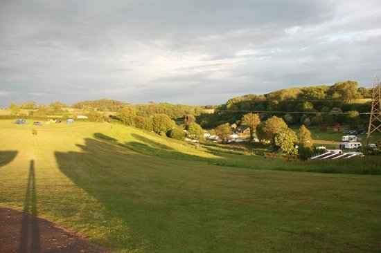 Whitehill Country Park: A view over part of campsite