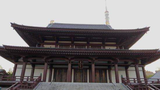 Zojoji Temple : 増上寺に近づいても、タワーのてっぺん見えてるよ! Even you come closer to Zojyoji, tower will not be hidden.