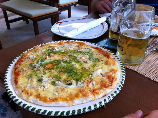 Pizzeria Luigi: Pizza Mare Knoblauch