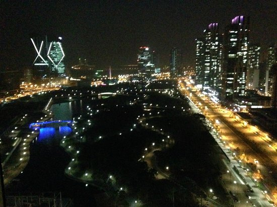 Sheraton Grand Incheon Hotel: view of central park and Incheon at night