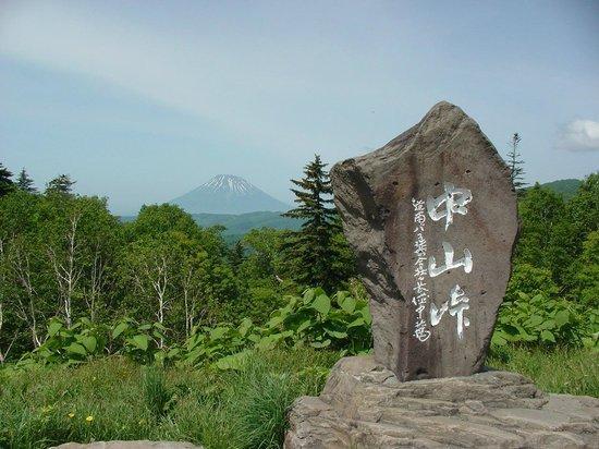 Nakayama Pass: 道路建設時の記念碑があります。