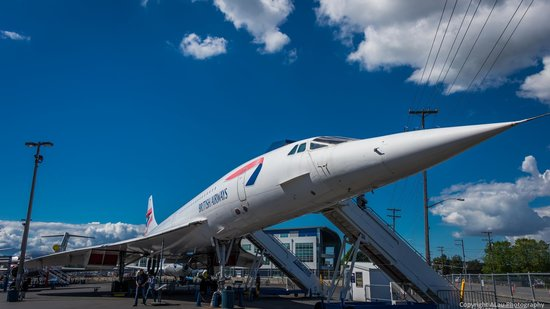 The Museum of Flight : British Airways Concorde outside