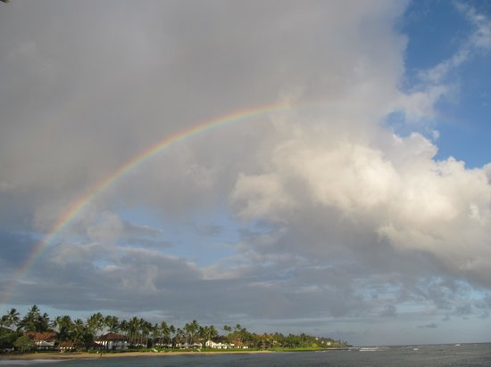 Sheraton Kauai Resort : Rainbow at resort