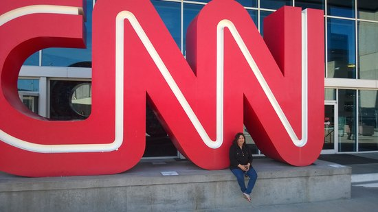 CNN Studio Tours : Entrance to CNN