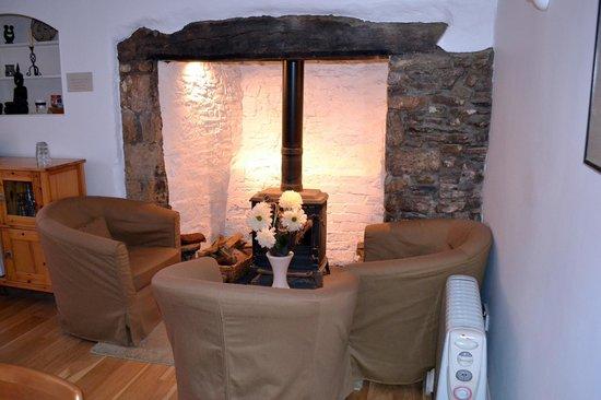 Little Widefield Farm: Restored fireplace