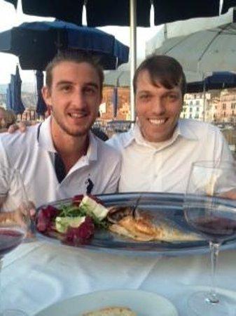 Ristorante Bagni Delfino: John and Andrea