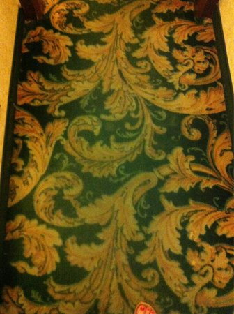 Amadeus Hotel: Грязный ковролин