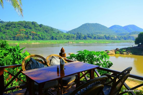 Mekong Riverview Hotel: View at breakfast