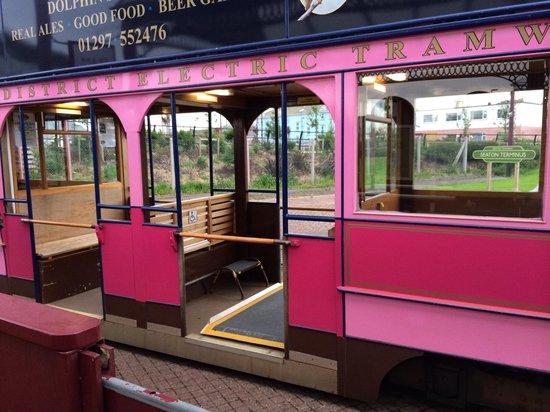 Seaton Tramway: Pink n lots of pink