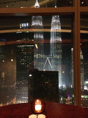 Grand Hyatt Kuala Lumpur: Dinner with a view