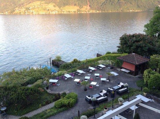 Seehotel Kastanienbaum : Вид ресторана со второго этажа
