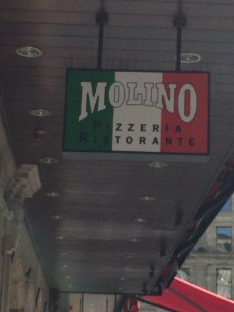 Pizzeria Ristorante Molino, Molard Genève: The sign