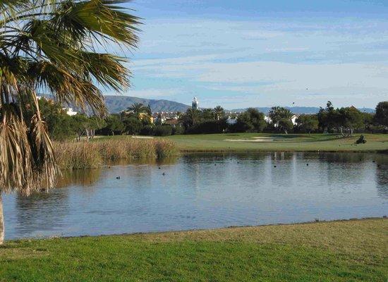 Club De Golf Playa Serena: View from 14th fairway towards 14th green