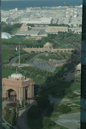 The St. Regis Abu Dhabi: St Regis Hotel - View of Emirates Palace From 43rd Floor Suite