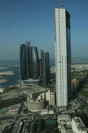 The St. Regis Abu Dhabi : St Regis Hotel - View of Etihad Towers From 43rd Floor Suite