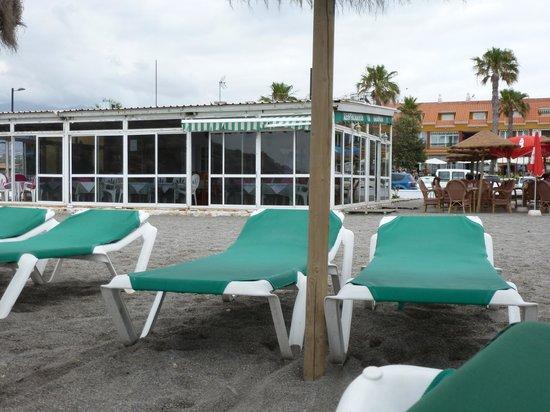 Tumbonas en la playa fotograf a de el campano salobre a for Tumbonas playa baratas