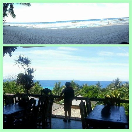 Amarela Resort: view of Bohol Sea from dining area