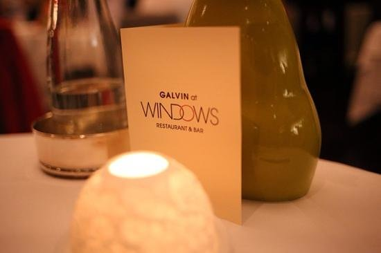 Galvin at Windows Restaurant: Great views, nice food