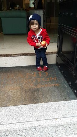 Park Grand London Paddington : My little girl at the entrance to the hotel