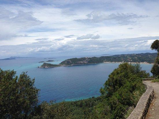 Hotel Costas Golden Beach: View of the Bay of Agios Georgios