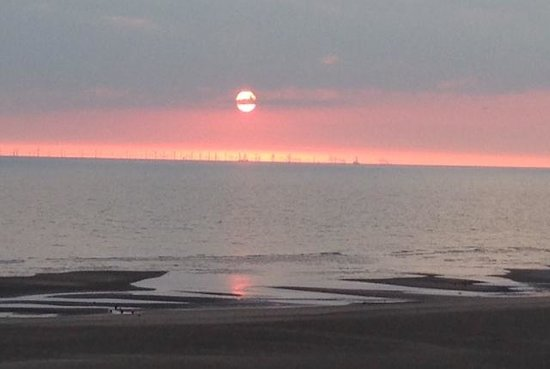 North Ocean Hotel: Sunset from the balcony 29.5.14