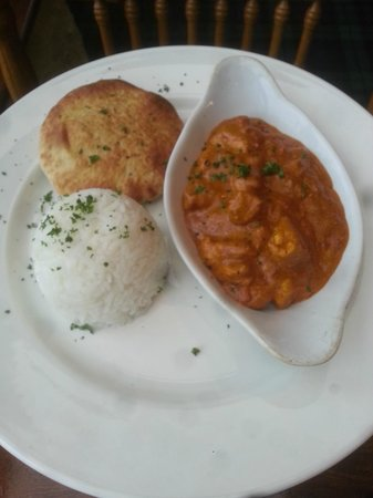 Lochnell Arms Hotel: Chicken madras