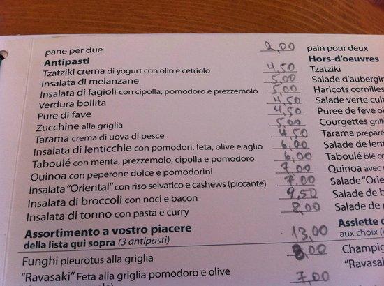 Fokos Taverna: menu