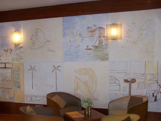 Hotel Welcome: Lobby paintings.