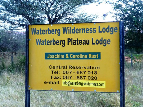Waterberg Wilderness Lodge: Eingang Waterberg-Wilderness