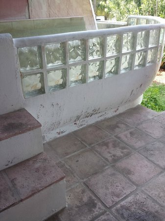 Taino Beach Resort & Clubs: what used to be private deck spas now just deteriorate and take up space.