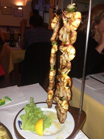 Restaurante Pedro : Prawn and Pork kebab