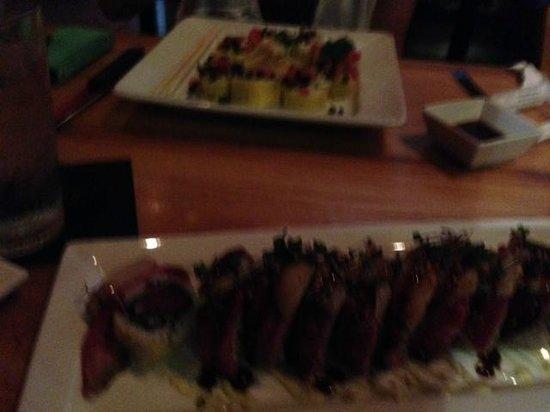 The Cowfish Sushi Burger Bar : sushi meal