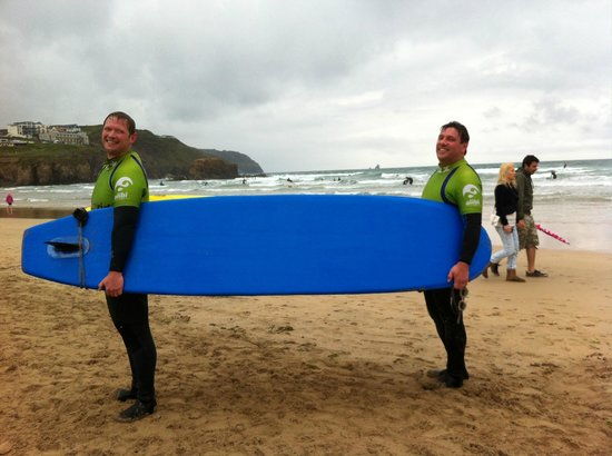 Ticket to Ride Surf School: Carrying up the surfboards