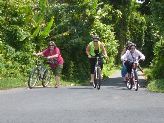 Bali Bintang Tour: The up hill ride.