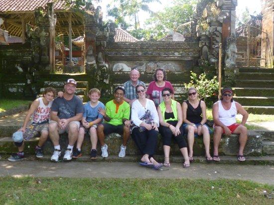 Bali Bintang Tour: Our group with or guide Kadek.