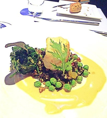 The Reflexions at Plaza Athenee Bangkok: Chef Daniel's favourite, monkfish on wildrice!