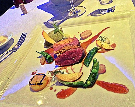 The Reflexions at Plaza Athenee Bangkok: Seared duck with carrot filling