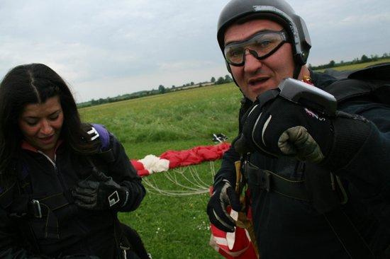 Skydive Hinton: On solid ground again.  Speechless