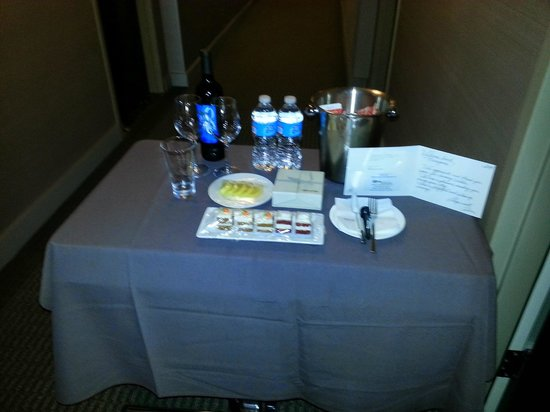 The Westin Jersey City Newport: The Milk and Pastries That Were Delivered to Us After a Long Day