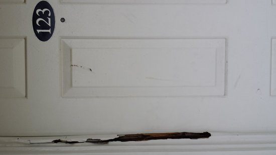 The Atlantic: rotted door frame